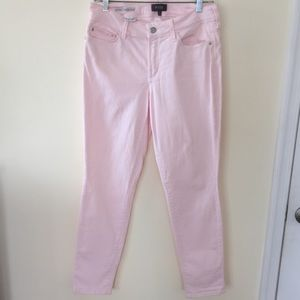 NYDJ jeans in a soft pink denim